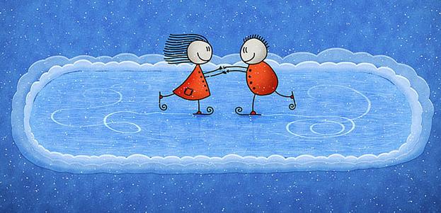 на катке знакомств ночи
